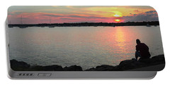 Sunset At The Park Portable Battery Charger