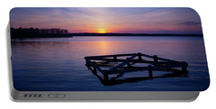 Sunset At The Reservoir  Portable Battery Charger
