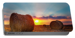 Sunset Bales Portable Battery Charger