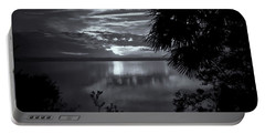 Sunset In Black And White Portable Battery Charger
