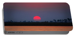 Sunset In Botswana Portable Battery Charger