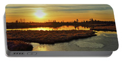 Sunset In Pitt Meadows Portable Battery Charger