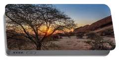Sunset In Spitzkoppe, Namibia Portable Battery Charger