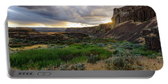 Sunset In The Ancient Lakes Portable Battery Charger