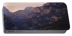 Portable Battery Charger featuring the photograph Sunset In The Anisclo Valley by Stephen Taylor