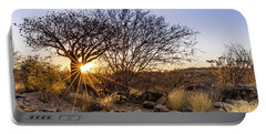 Sunset In The Erongo Bush Portable Battery Charger