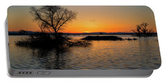 Sunset In The Refuge Portable Battery Charger