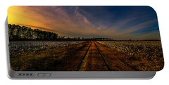 Sunset In The Twin Fields Portable Battery Charger