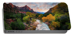 Portable Battery Charger featuring the photograph Sunset In Zion  by Michael Ash