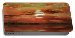 Portable Battery Charger featuring the photograph Sunset Lake by Bill Swartwout Fine Art Photography