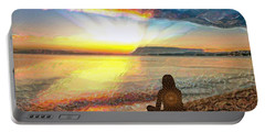 Sunset Meditation Portable Battery Charger