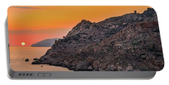 Sunset Near Cape Tainaron Portable Battery Charger