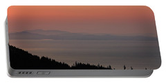 Sunset Of The Olympic Mountains Portable Battery Charger