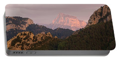 Portable Battery Charger featuring the photograph Sunset On Pena Montanesa by Stephen Taylor