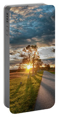 Sunset On The Field Portable Battery Charger