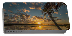 Sunset On The Pond Portable Battery Charger
