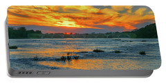 Sunset On The River  Portable Battery Charger