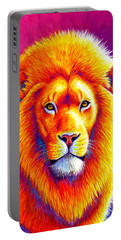 Sunset On The Savanna - African Lion Portable Battery Charger