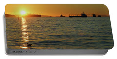 Sunset Over English Bay Portable Battery Charger