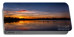 Sunset Over Laupheim Quarry Portable Battery Charger