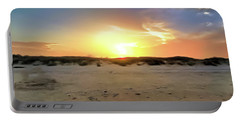 Sunset Over N Padre Island Beach Portable Battery Charger