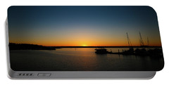 Sunset Over The Potomac Portable Battery Charger