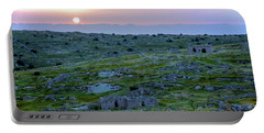 Sunset Over Um A-shekef, Israel Portable Battery Charger