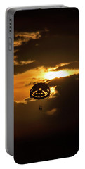 Portable Battery Charger featuring the photograph Sunset Parasailing In Key West by Bob Slitzan