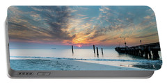 Sunset Seascape And Beautiful Clouds Portable Battery Charger