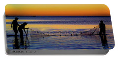 Sunset Seining On Copano Bay Portable Battery Charger
