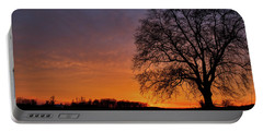 Portable Battery Charger featuring the photograph Sunset Silhouette Tree by Mark Dodd
