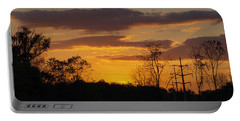 Sunset With Electricity Pylon Portable Battery Charger