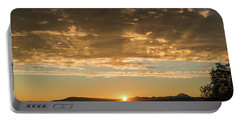Sunset's Golden Rays Portable Battery Charger