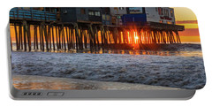 Portable Battery Charger featuring the photograph Sunstar At Pier Patio Old Orchard Beach by Dan Sproul