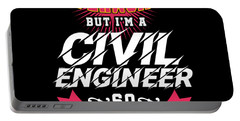 Super Woman Civil Engineer Science Women Profession Nerds Gifts Portable Battery Charger