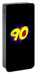 Superhero 90 Years Old Birthday Portable Battery Charger