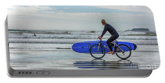 Surfer On Bike Portable Battery Charger