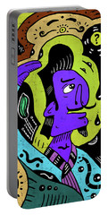 Portable Battery Charger featuring the digital art Surreal Painter by Sotuland Art