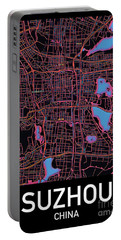 Suzhou City Map Portable Battery Charger