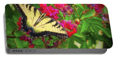Swallowtail Among Flowers Portable Battery Charger