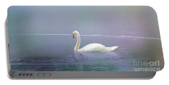 Swan In The Fog Portable Battery Charger