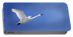 Swan On Blue Portable Battery Charger