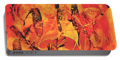 Portable Battery Charger featuring the painting Sweep by 'REA' Gallery