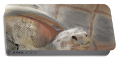 Portable Battery Charger featuring the digital art Sweet Tortoise by Fe Jones