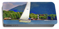 Tacking Lighthouse Sailor, Smith Mountain Lake Portable Battery Charger