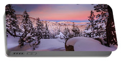 Tahoe Sunrise Deep Within The Powder Portable Battery Charger
