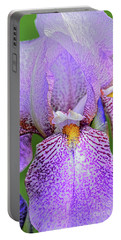 Tall Bearded  Iris-rhages Portable Battery Charger
