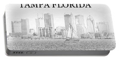 Tampa City Skyline Line Work A Portable Battery Charger