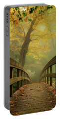 Tanawha Trail Blue Ridge Parkway - Foggy Autumn Portable Battery Charger