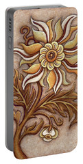 Tapestry Flower 1 Portable Battery Charger